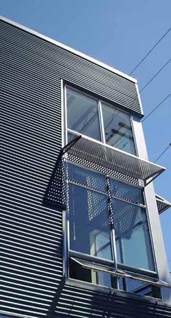 Hendrick perforated metal window shades